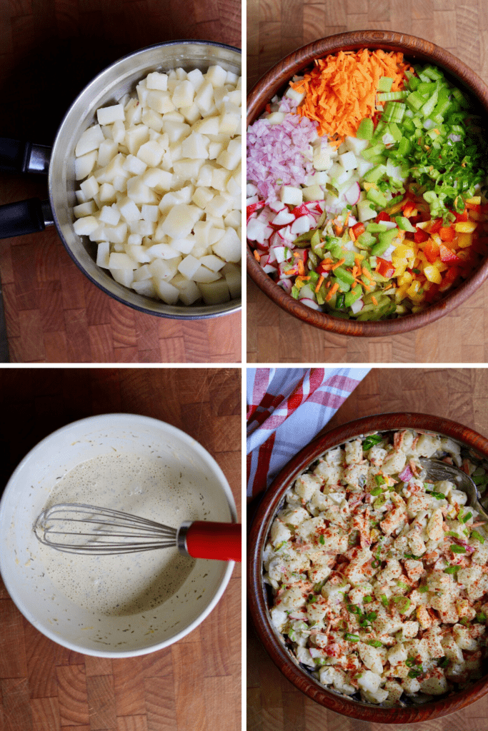 step by step photos how to make vegan potato salad
