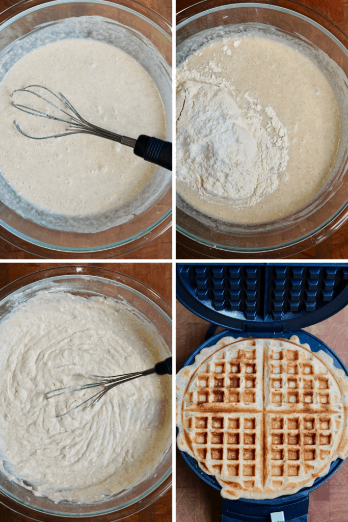 step by step photos how to make vegan waffles