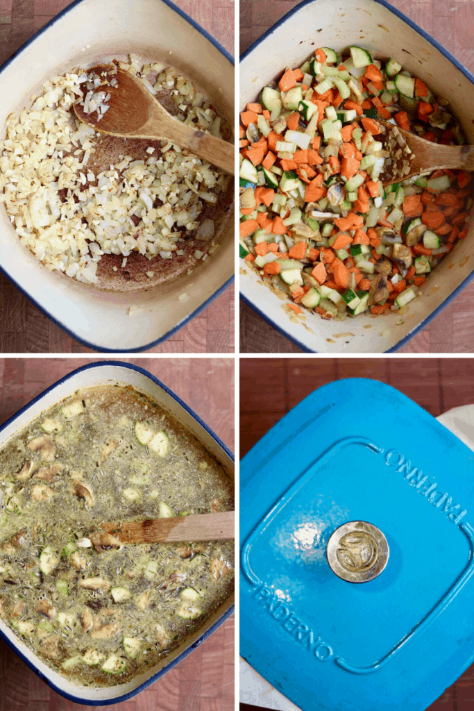 step by step photos how to make vegan chicken noodle soup