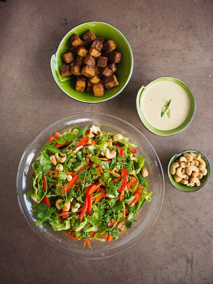 40 delicious & healthy vegan salad recipes picture of asian slaw for recipe roundup