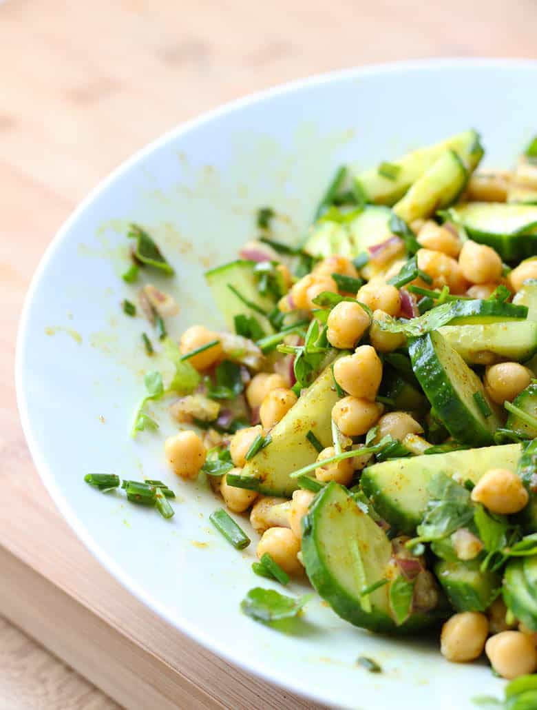 40 delicious & healthy vegan salad recipes picture of chana chat salad for recipe roundup