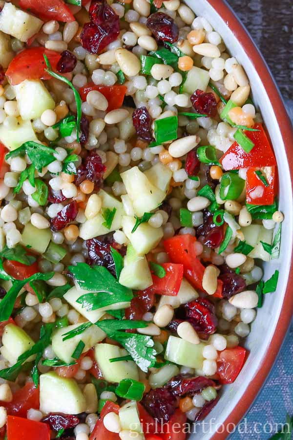 40 delicious & healthy vegan salad recipes picture of couscous salad for recipe roundup