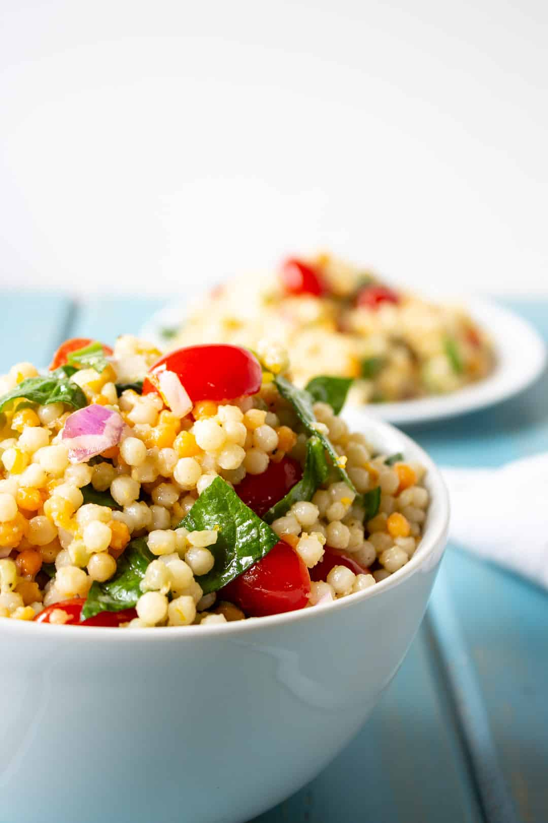 40 delicious & healthy vegan salad recipes picture of couscous salad from recipe roundup