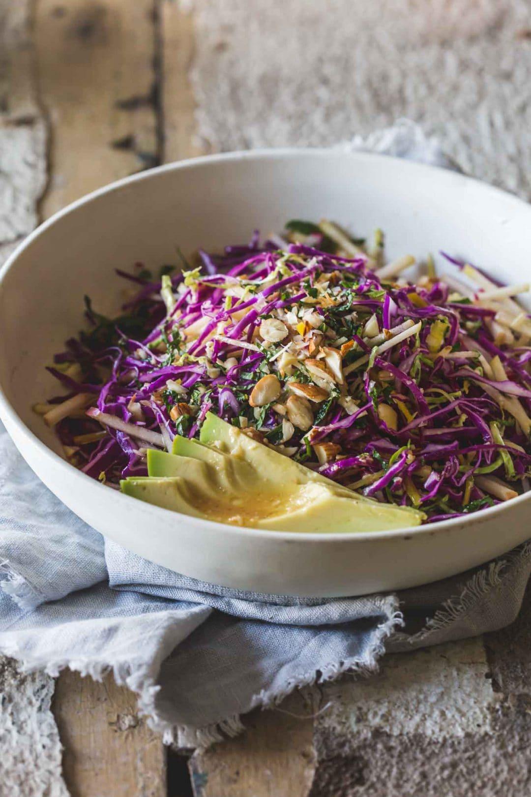 40 delicious & healthy vegan salad recipes picture of detox slaw salad for recipe roundup