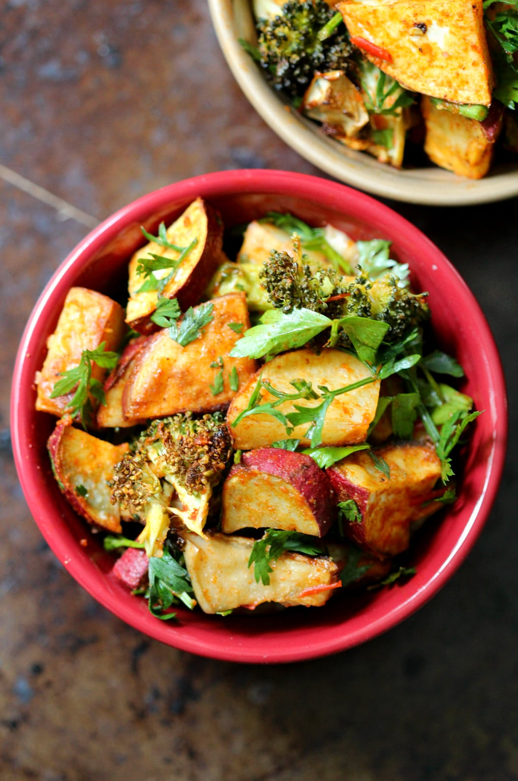 40 delicious and healthy vegan salad recipes picture of harissa potato salad from recipe roundup
