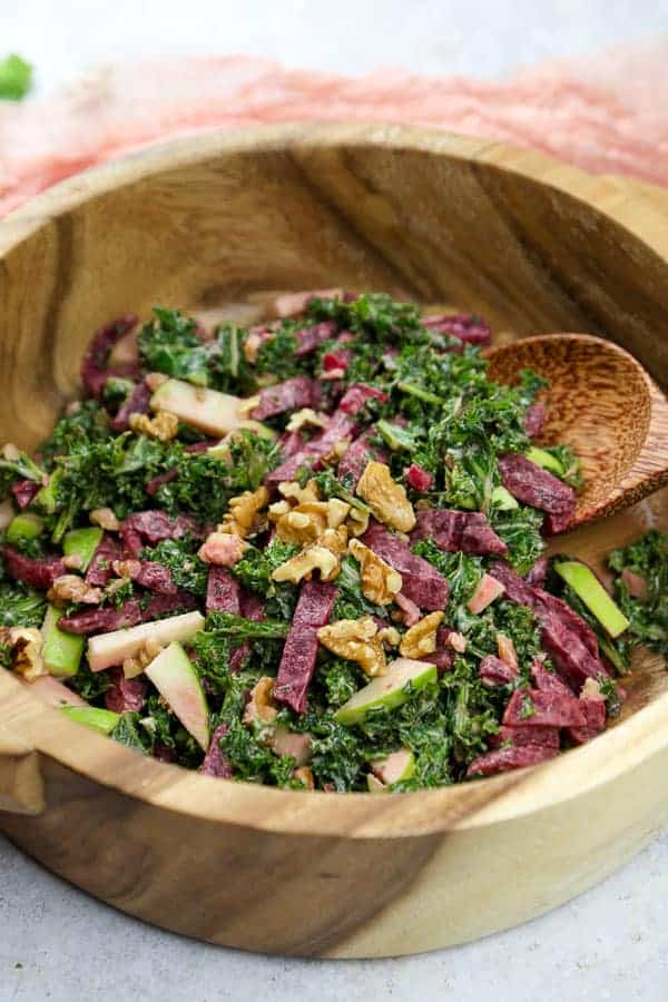 delicious & healthy vegan salad recipes picture of kale salad for recipe roundup