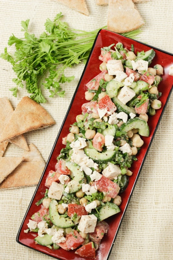 40 delicious & healthy vegan salad recipes picture of middle eastern salad for recipe roundup