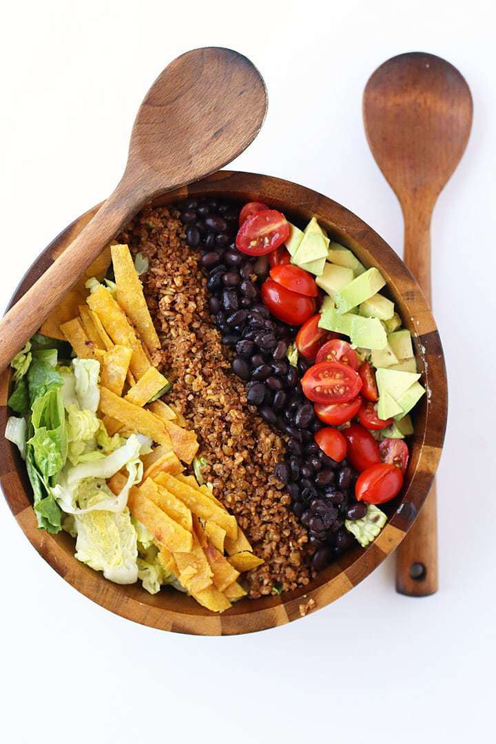 40 delicious & healthy vegan salad recipes picture of taco salad for recipe roundup