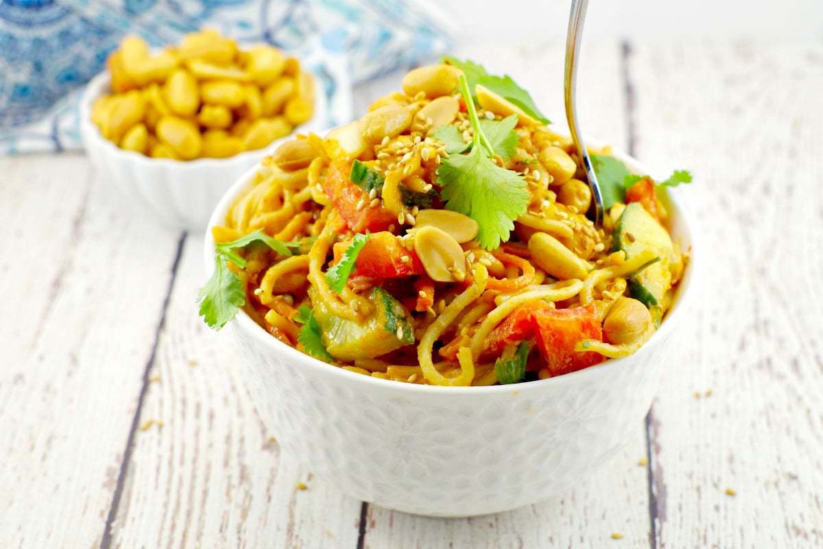 40 delicious & healthy vegan salad recipes picture peanut noodle salad from recipe roundup