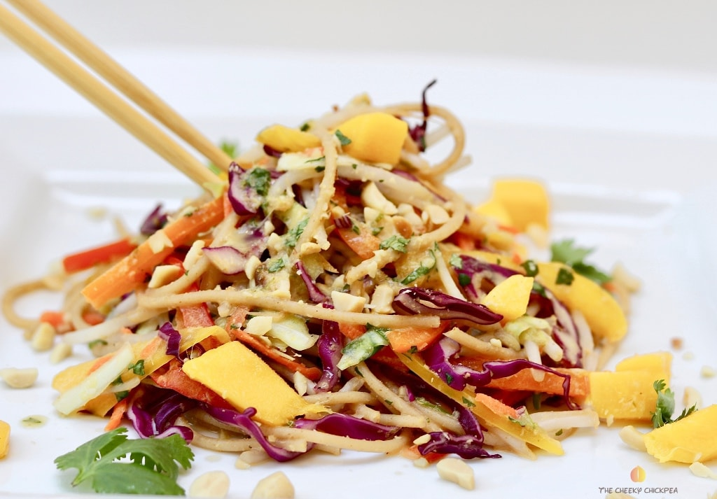 40 delicious & healthy vegan salad recipes picture of thai noodle salad from recipe roundup
