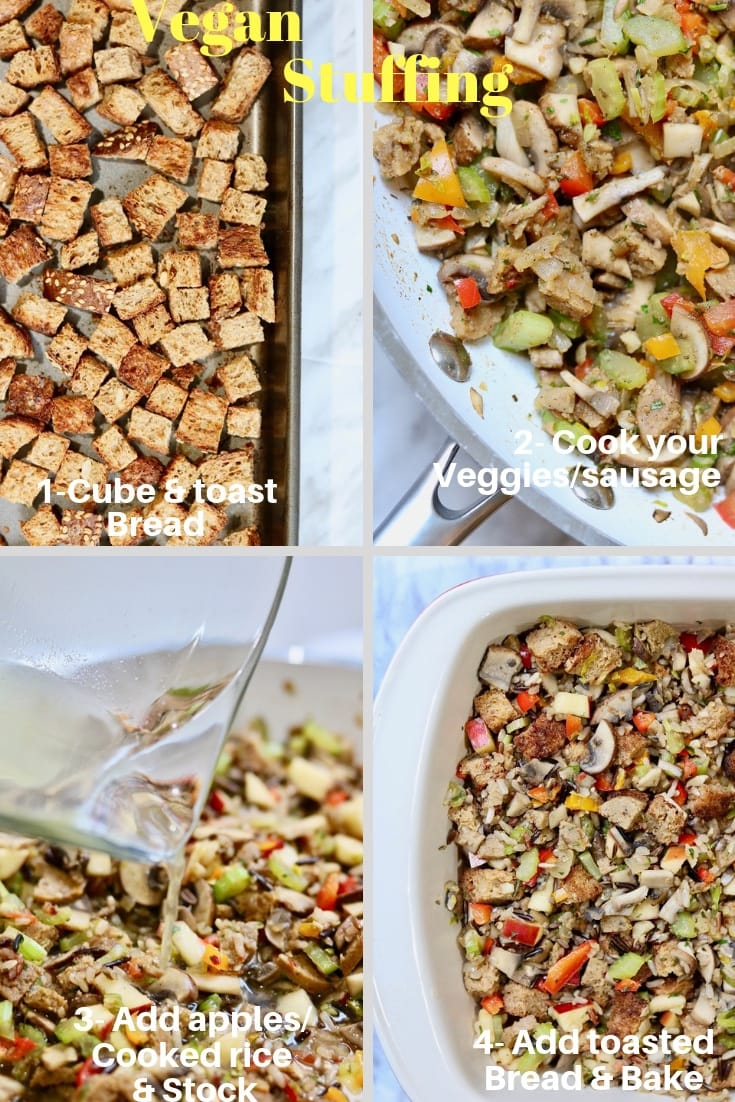 perfect vegan stuffing step by step instructions