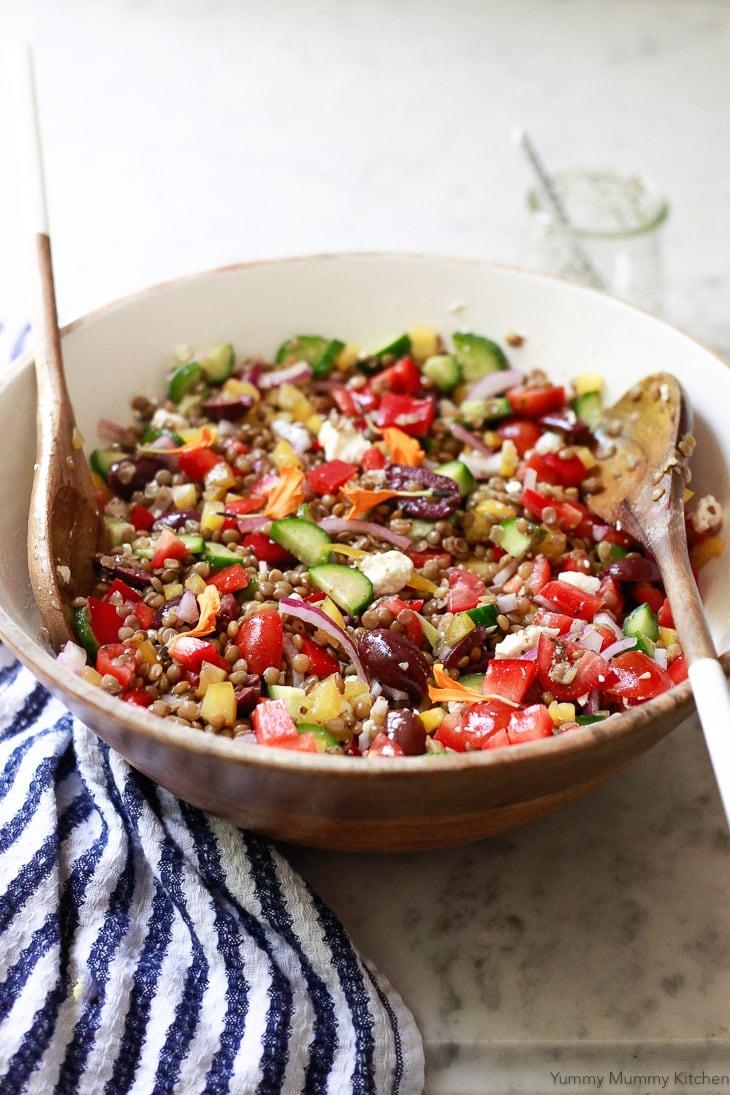 40 delicious & healthy vegan salad recipes picture of mediterranean salad for recipe roundup