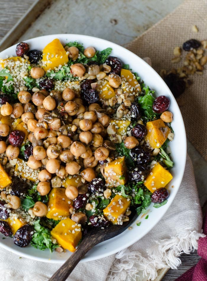delicious & healthy vegan salad recipes picture of roasted squash salad for recipe roundup