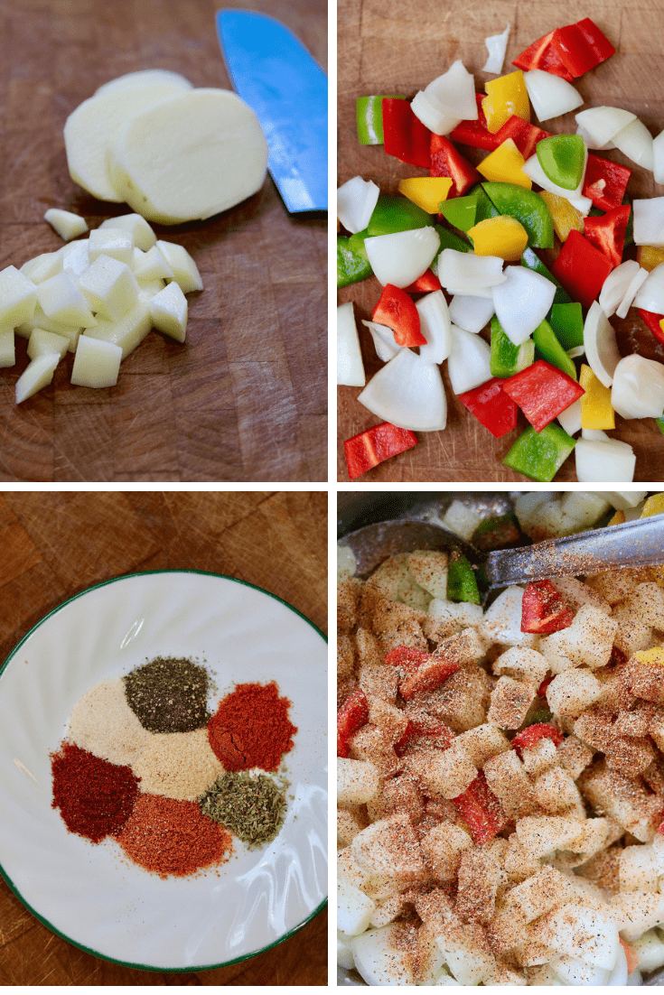 best home fries recipe step by step photo collage