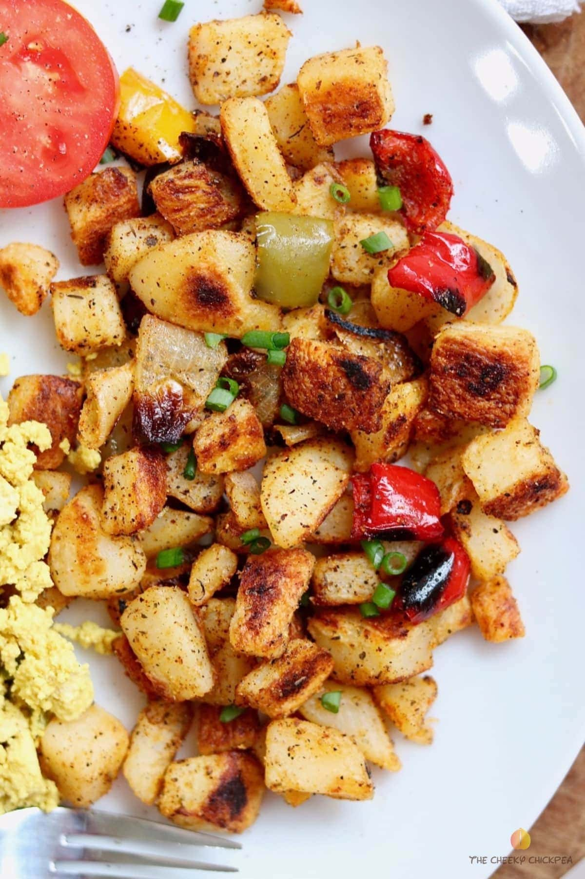 Best Home Fries Recipe Breakfast Potatoes The Cheeky Chickpea