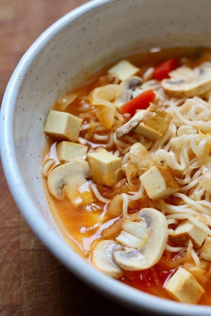 ramen noodle soup in a white bowl