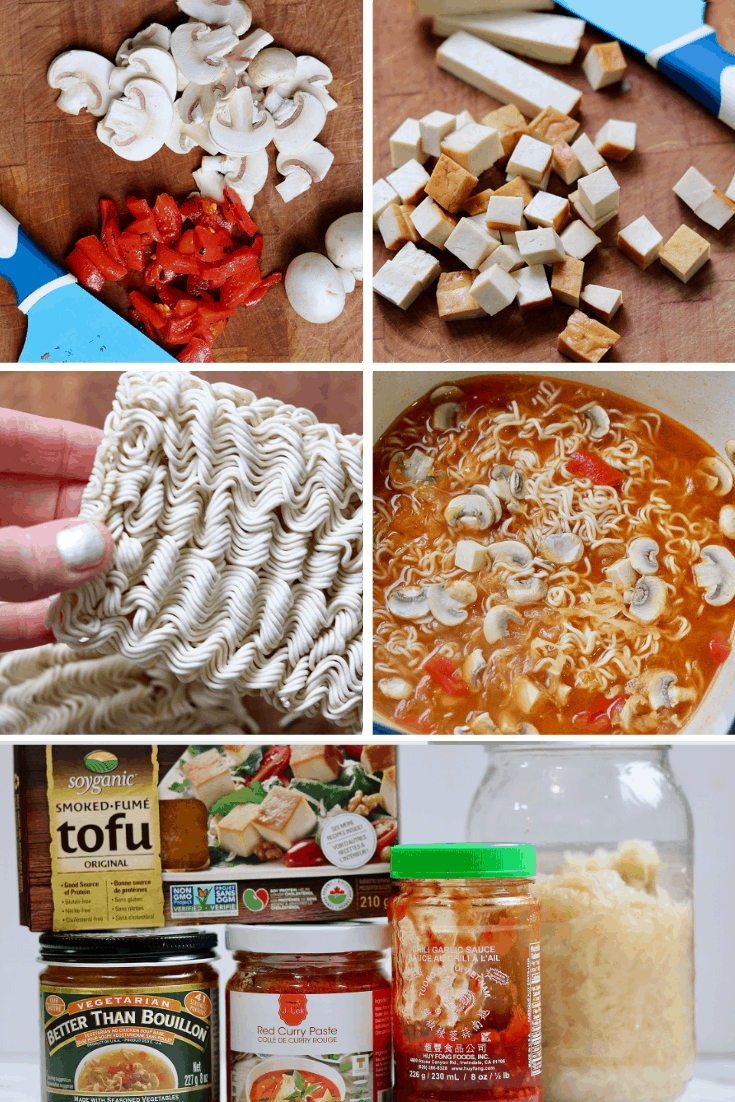 how to make ramen noodle soup step by step photo collage