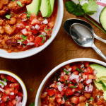 best vegan Chili recipe in two white bowls