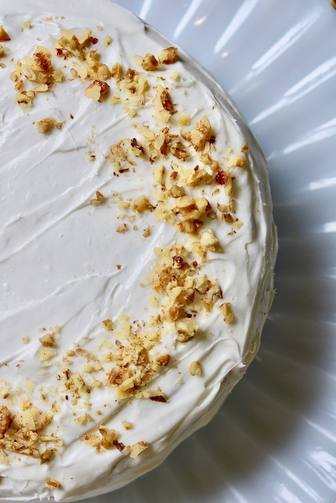 frosted vegan carrot cake