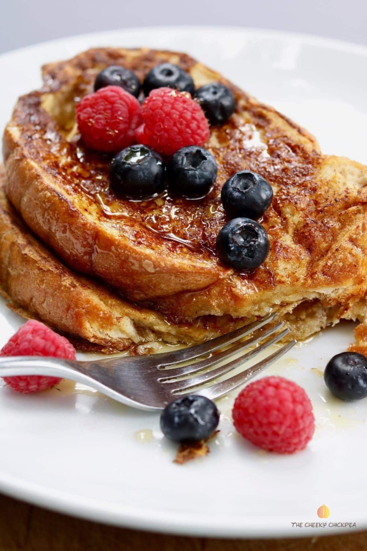 Best Easiest Vegan French Toast Recipe Tofu The Cheeky Chickpea