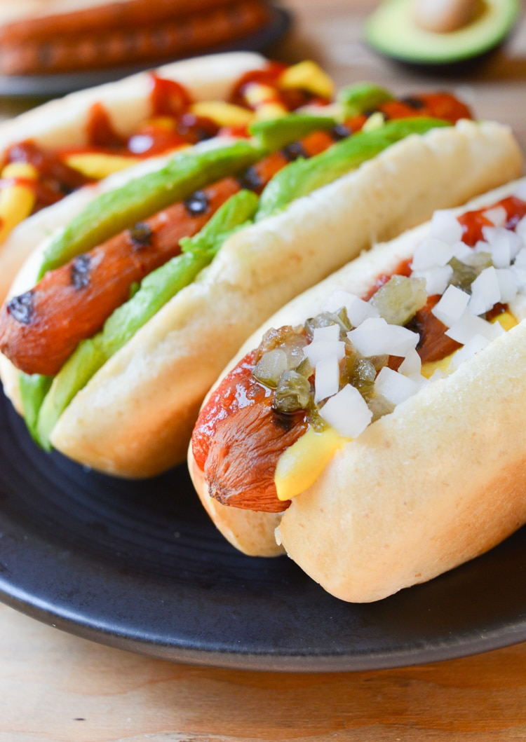 carrot hot dogs for vegan potluck recipe roundup