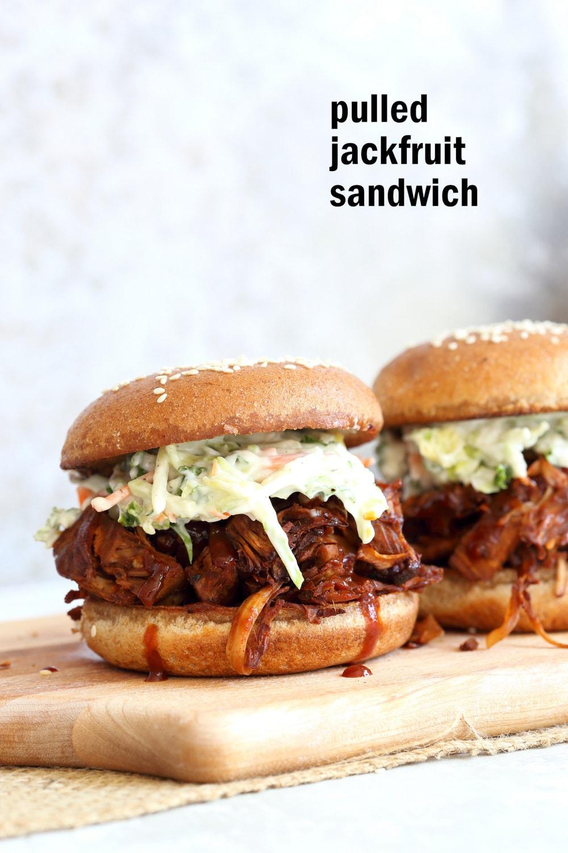 pulled jackfruit sandwiches for vegan potluck recipe roundup