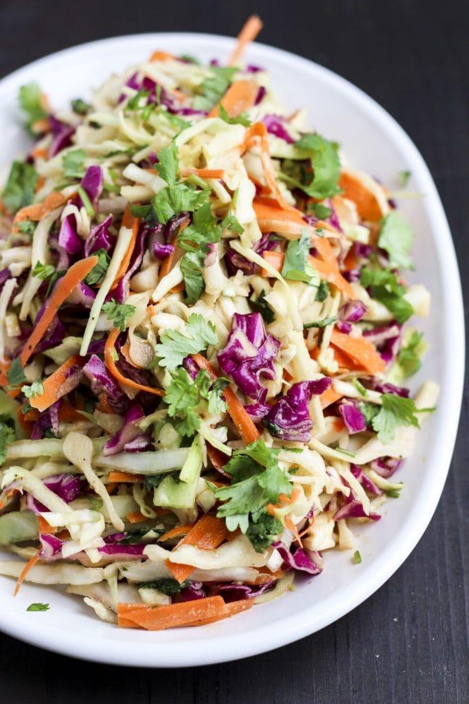 asian slaw for vegan potluck recipe roundup