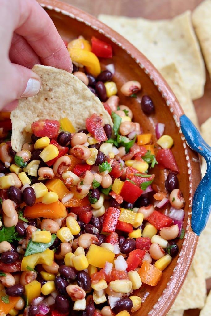 cowboy caviar for vegan potluck recipe roundup