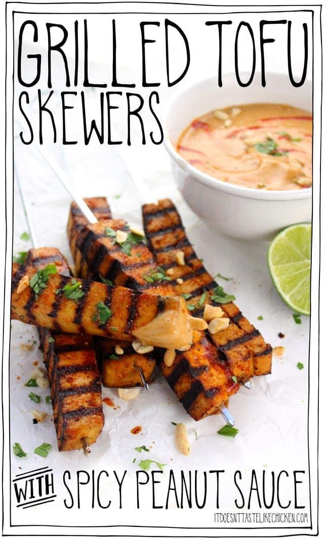 grilled tofu skewers for vegan potluck recipe roundup