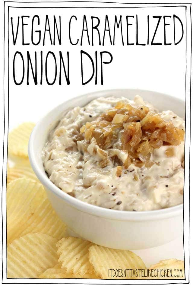 vegan onion dip for vegan Potluck recipe roundup