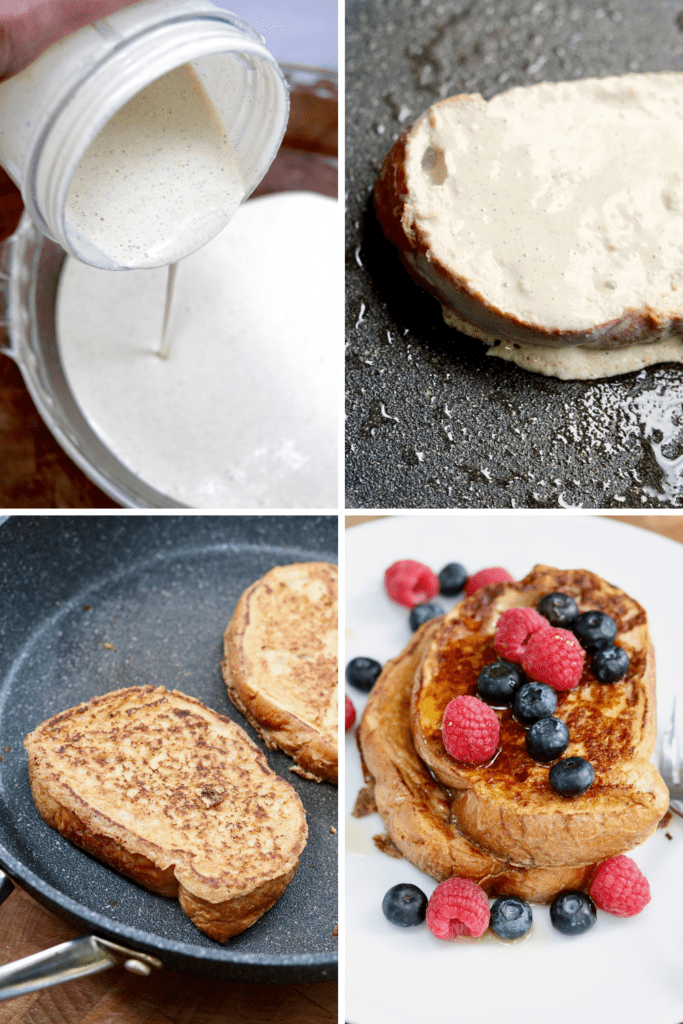 step by step photos how to make vegan french toast