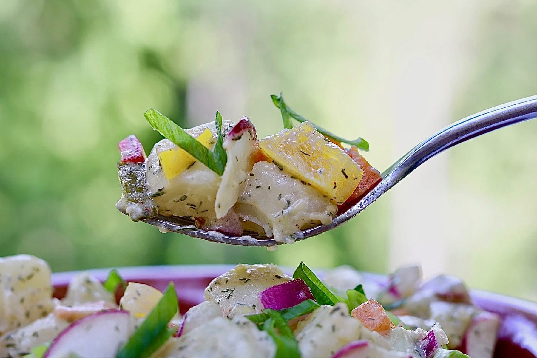 vegan potato salad for vegan potluck recipe roundup