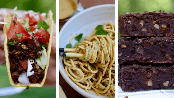 cheeky chickpea recipe pictures tacos peanut noodles brownies