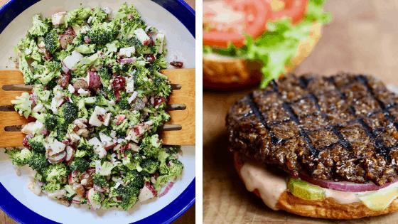cheeky chickpea recipe pictures broccoli salad vegan burger