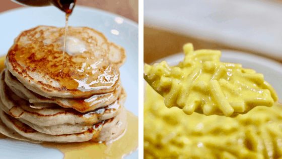 cheeky chickpea recipe pictures pancakes Mac and cheese