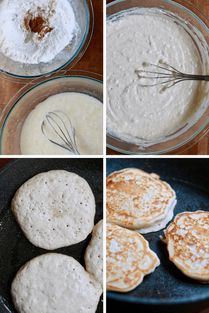 step by step photos how to make vegan buttermilk pancakes