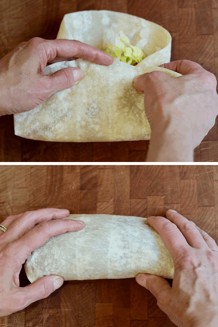 more step by step photos how to roll a burrito