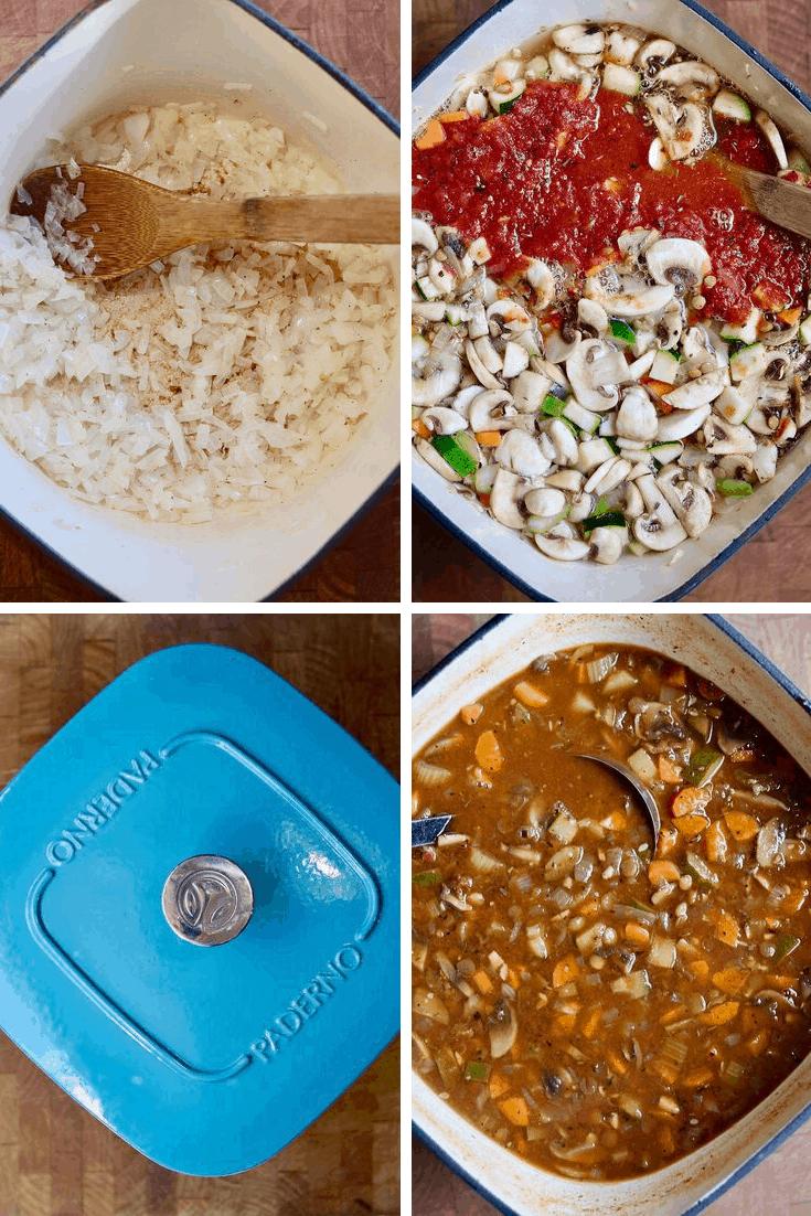 step by step photos how to make vegan lentil soup