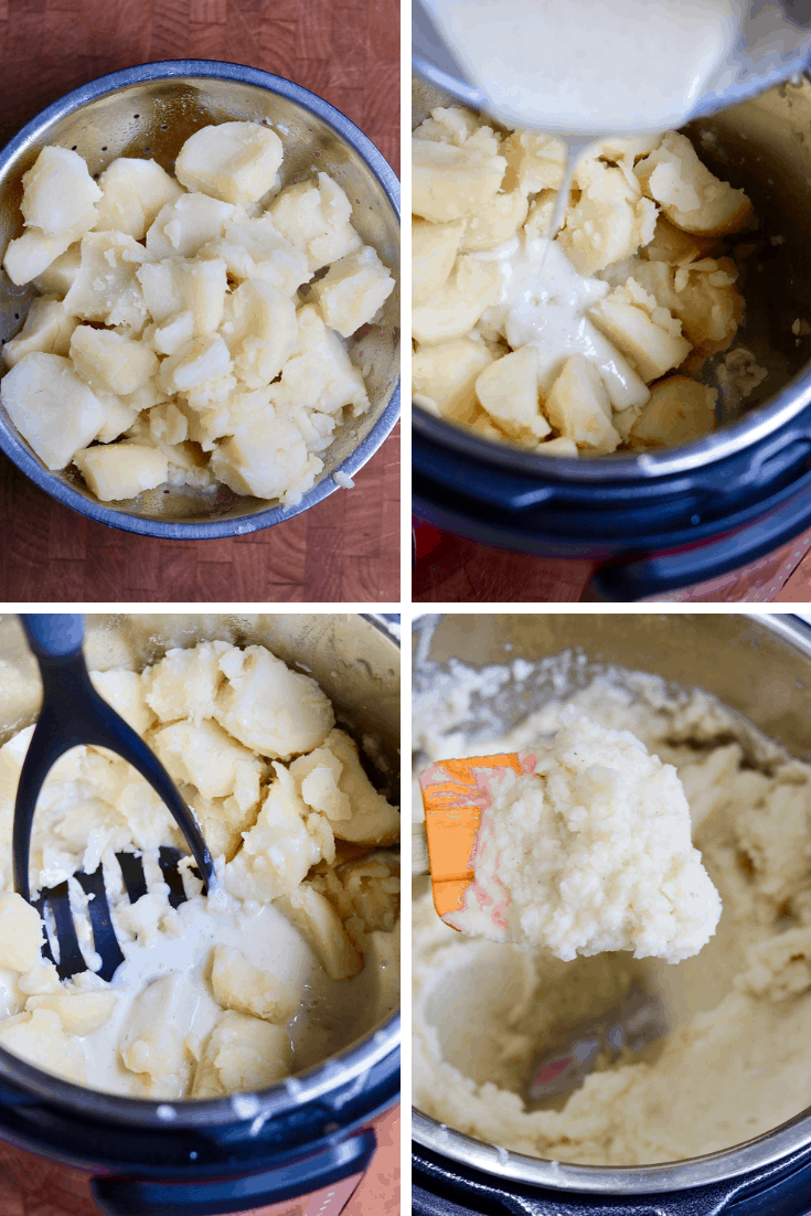 step by step photos how to mash potatoes