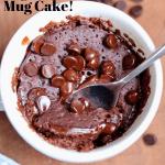 mug cake in a coffee cup