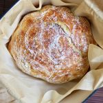 no knead bread baked in a dutch oven