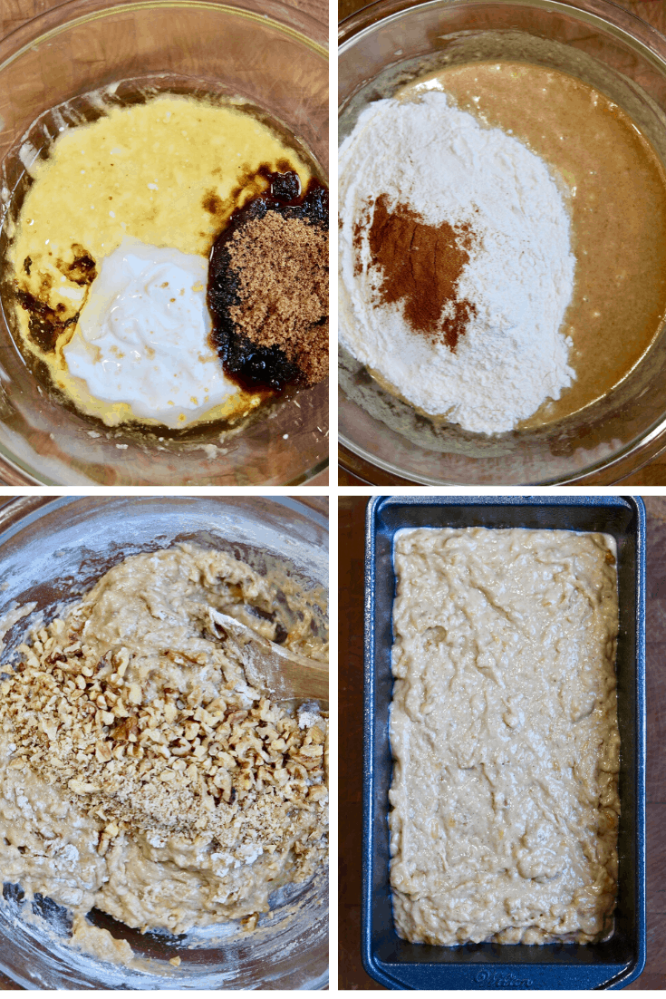step by step photos how to make vegan banana bread