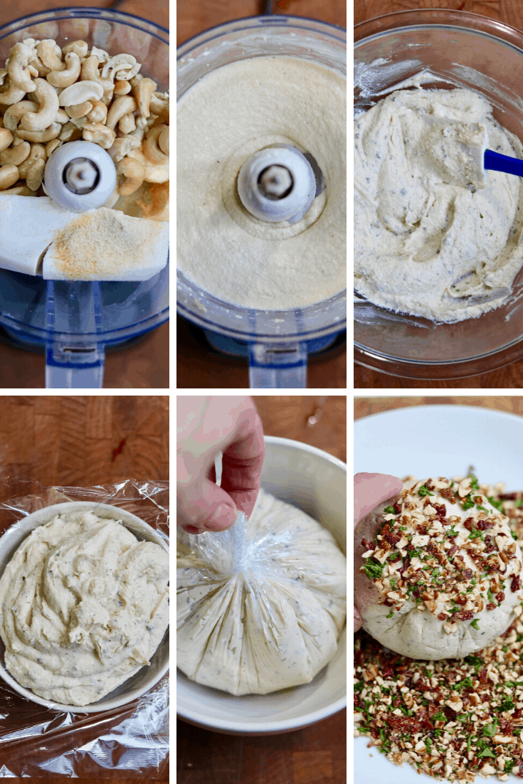 step by step photos how to make a vegan cheese ball