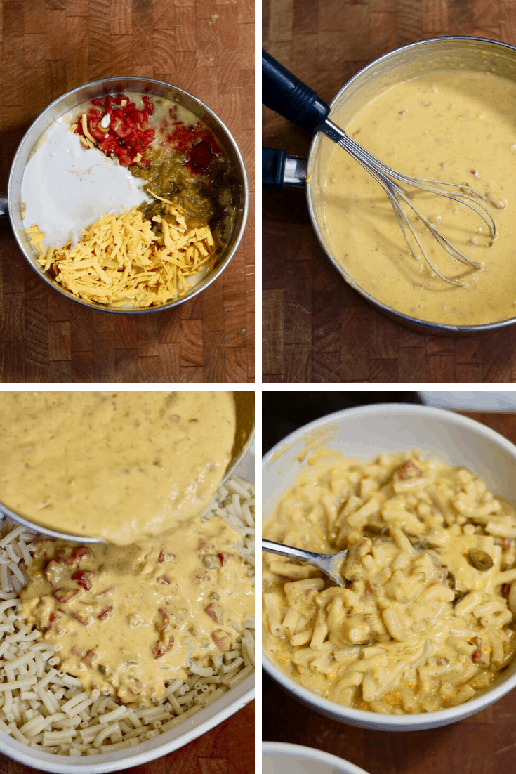 step by step photos how to make jalapeño cheddar vegan mac and cheese