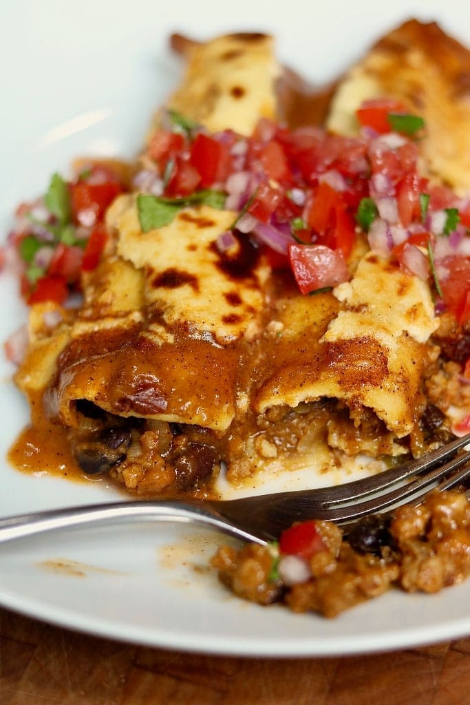 Best Ever Vegan Enchiladas With Homemade Enchilada Sauce The Cheeky Chickpea