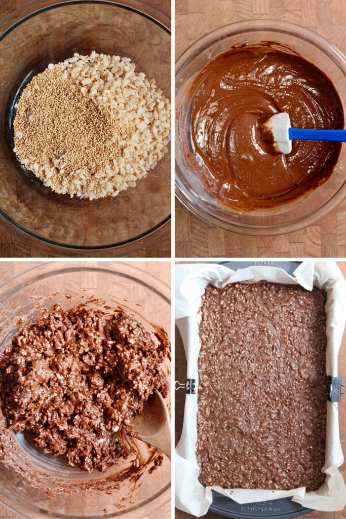step by step how to make vegan chocolate candy bars
