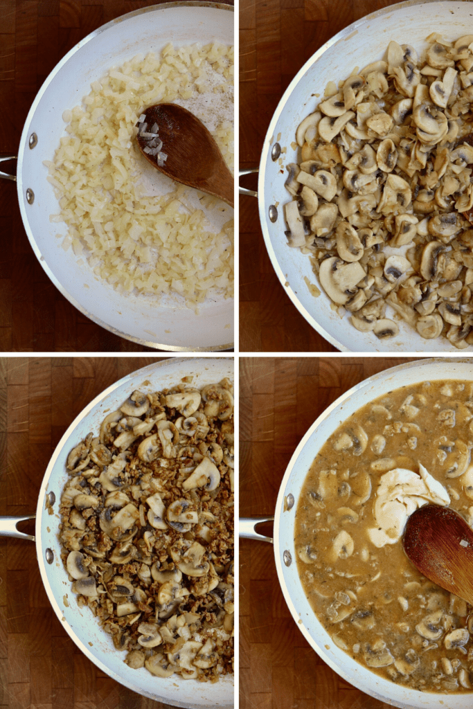 step by step photos how to make vegan mushroom stroganoff
