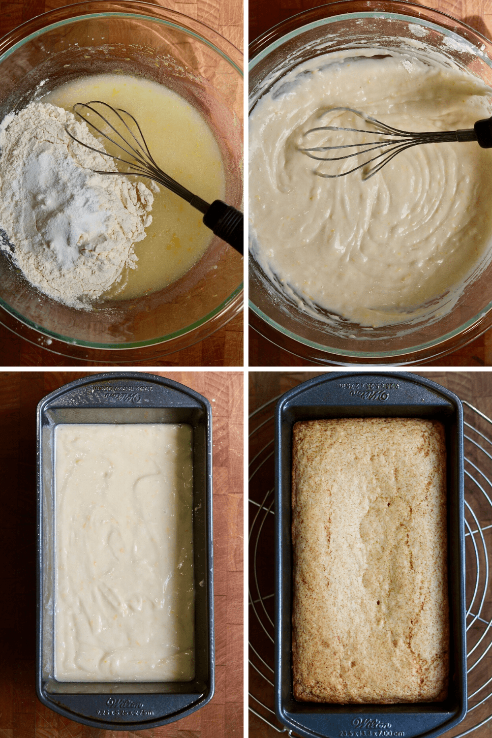 step by step photos how to make vegan lemon loaf