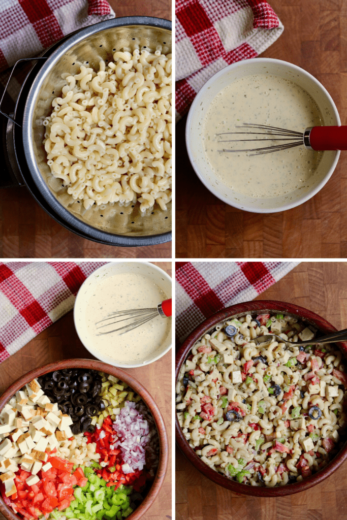 step by step photos how to make vegan macaroni salad