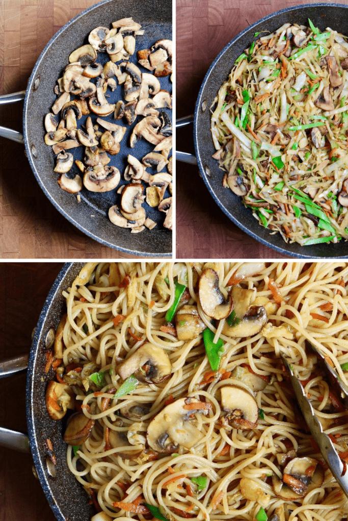 step by step photos how to make teriyaki noodles